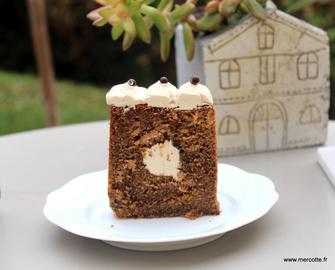 Cake délicatement café et chocolat en attendant la bûche ...
