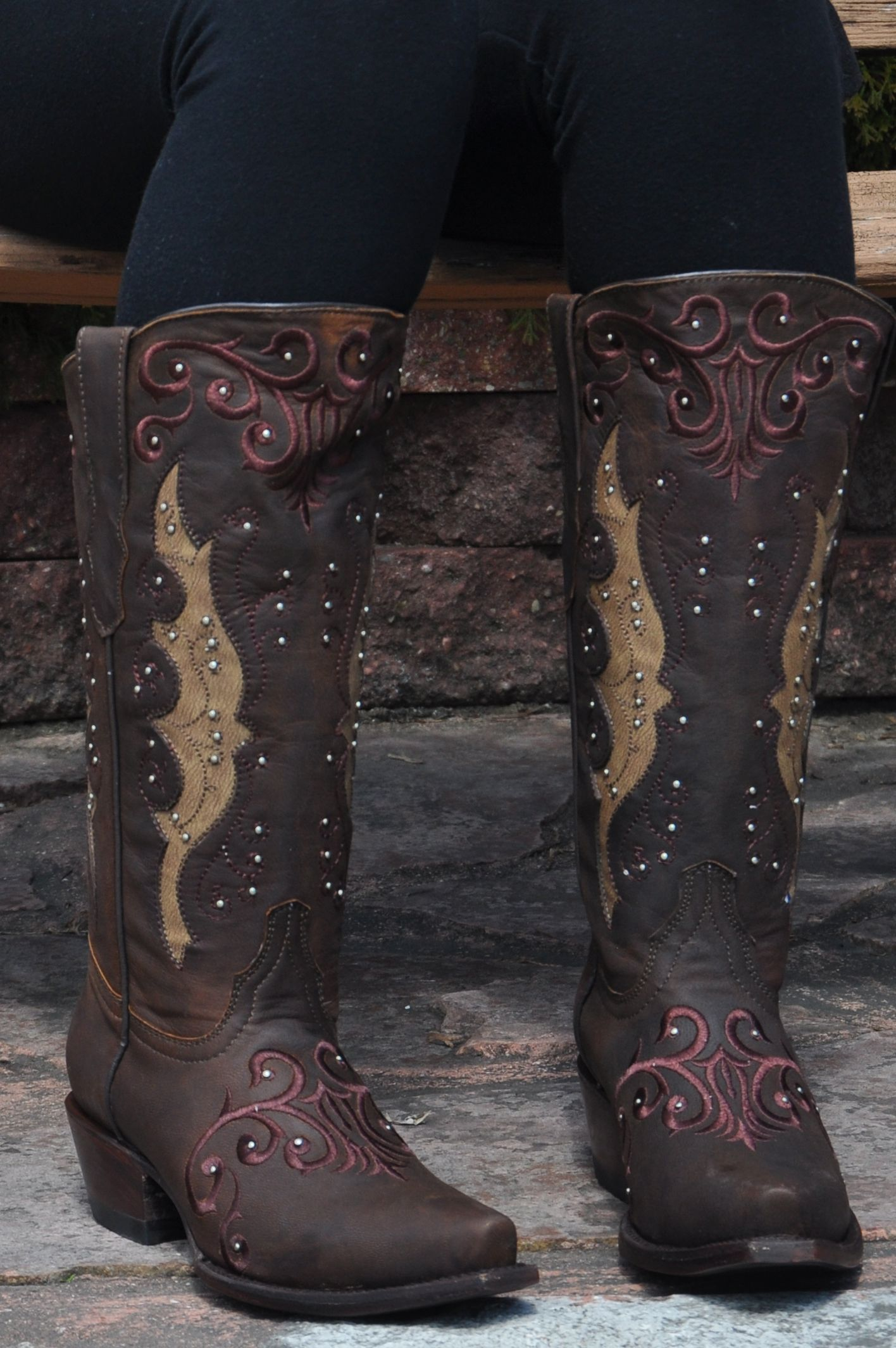 Elegant Leather Western Boots by Soto Boots M50023