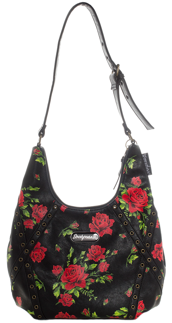 6879c561d821 SOURPUSS ROSE GARDEN HOBO PURSE  55.00  sourpuss  sourpussclothing  purse   hobobag  roses