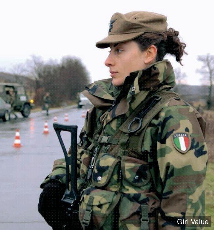 italian female soldier women military army girl