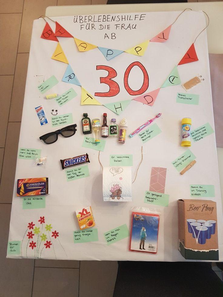 30 Geburtstag Frau Geschenk 30 Geburtstag Frau Geburtstag