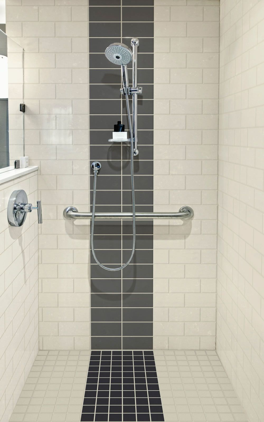 Subway tiles are an affordable option for bathroom walls and ...