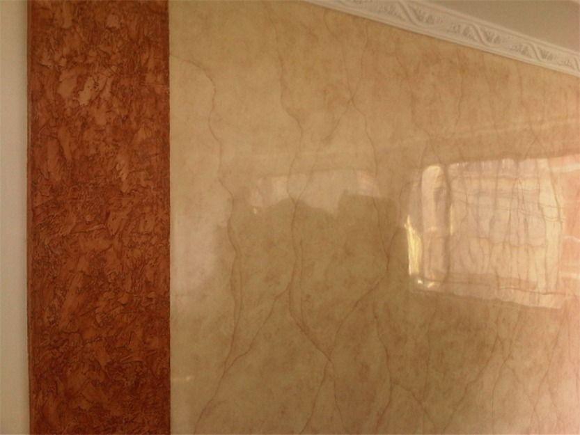 Estuco veneciano decoraci n y piedra ideas para decorar - Pintar sobre estuco veneciano ...