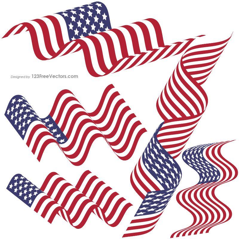 waving american flag clip art usa flags vector free american