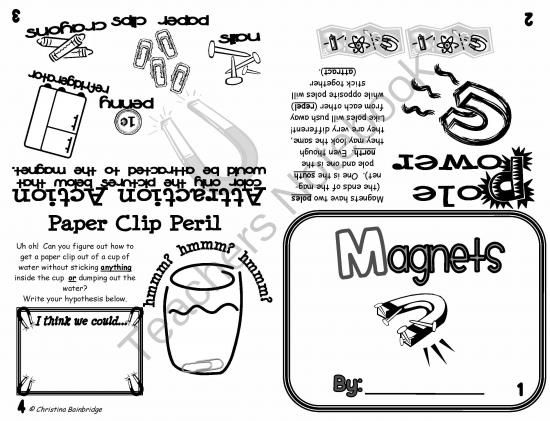 Magnets Flippy Book from Mrs. Bainbridge's Shop on