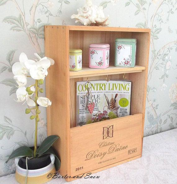 Recycled wine box key shelf  Chateau Doisy-Daene  by BaxterandSnow