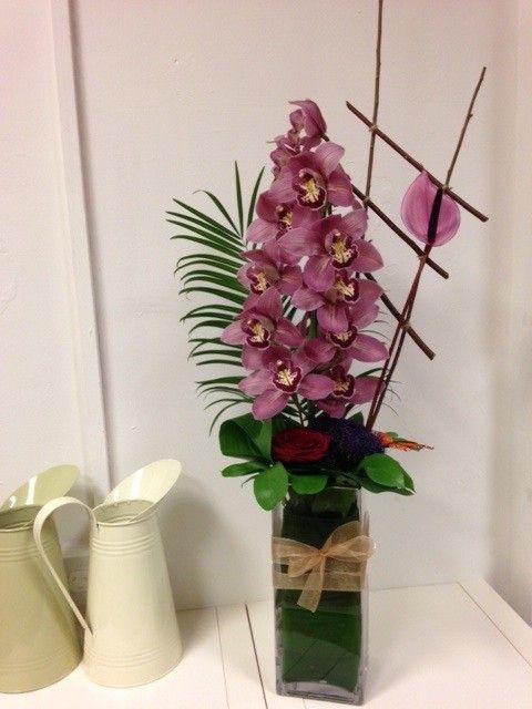 Exotic Orchid Vase Arrangement, £75.00