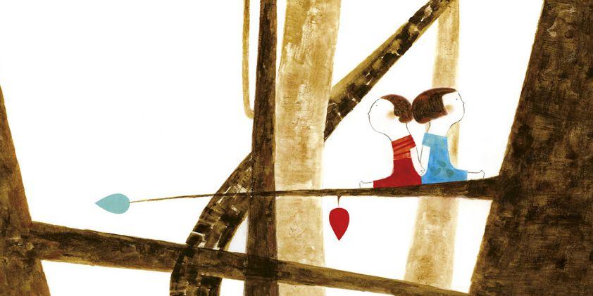 Ilustración de Patricia Metola para Hansel y Gretel, el cuento de Pepe Maestro que Edelvives incluye en la colección Colorín Colorado dirigida a primeros lectores.