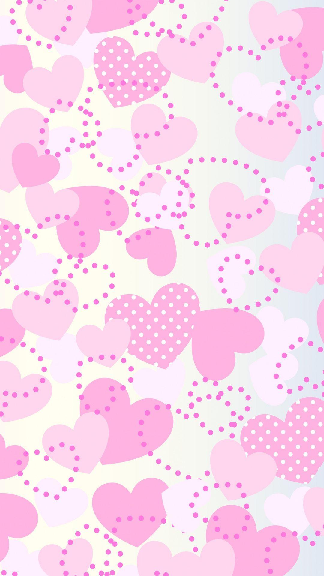 Pink Girly Hearts Abstract Wallpaper Abstract Wallpaper Heart Wallpaper Wallpaper
