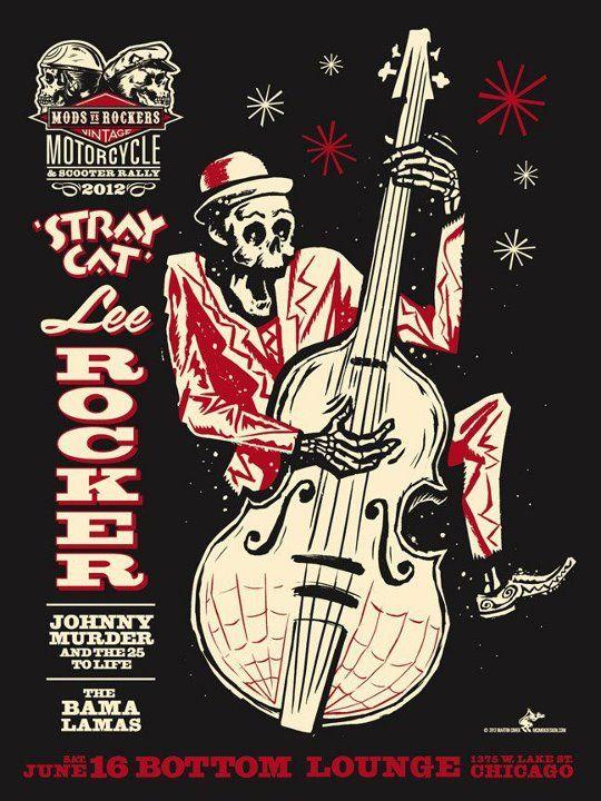 Stray Cat Lee Rocker Poster Concert Poster Art Music Poster
