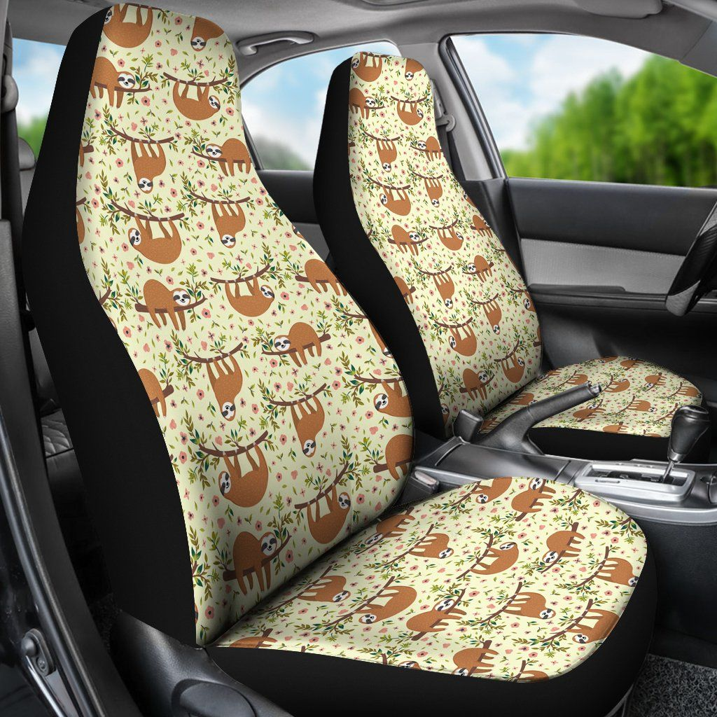 Floral Sloth Car Seat Covers In 2020 Car Seats Carseat Cover Seat Covers