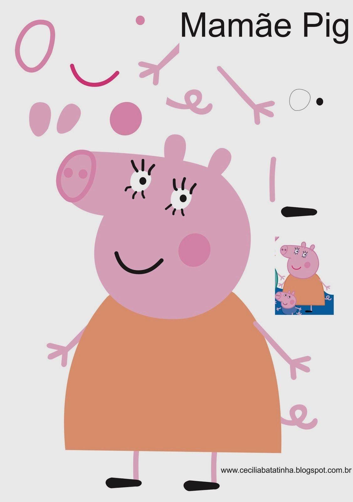 Mamae Jpg 1126 1600 Peppa Pig Birthday Peppa Pig Birthday