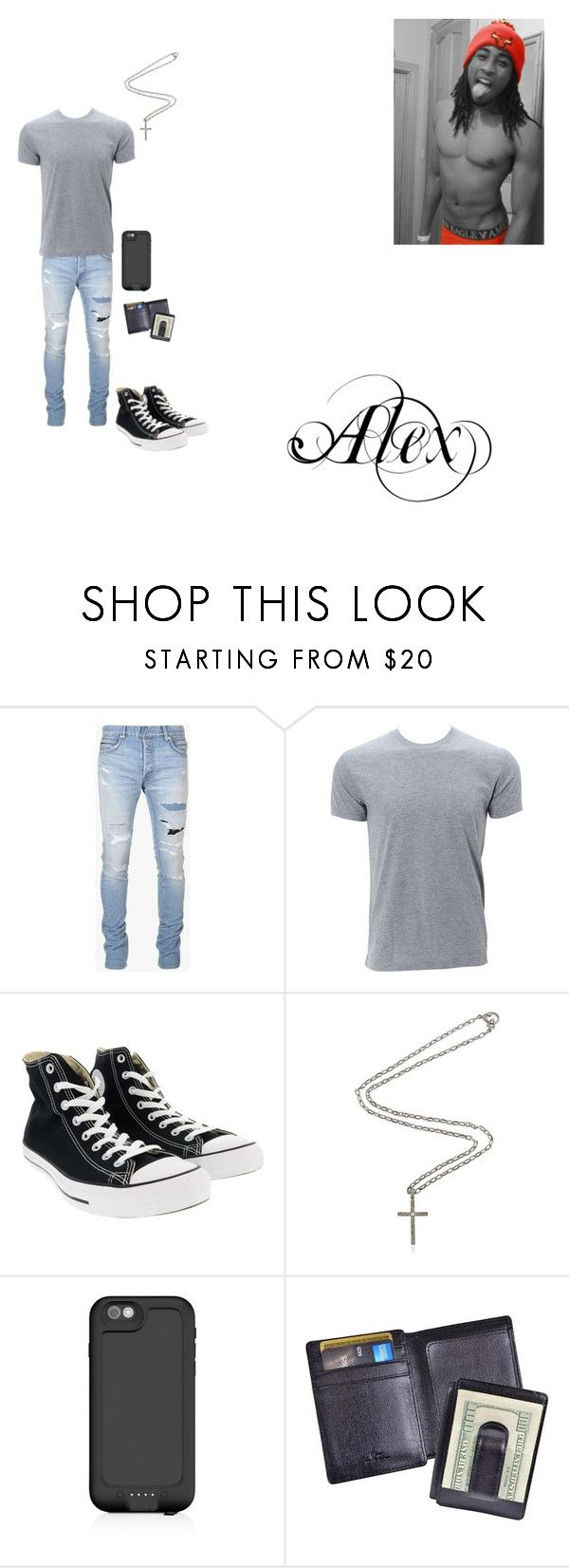 """""""Alex"""" by fantacy-rp-lover on Polyvore featuring Balmain, Converse, Marco Ta Moko, Mophie and Royce Leather"""