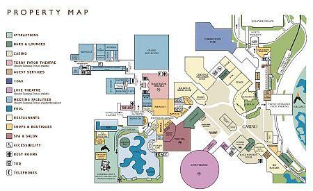 Mirage Property Map - Las Vegas Maps   Mirage las vegas
