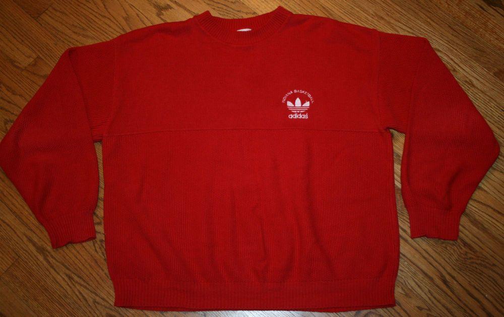 84a3993f3b Vintage Indiana Basketball Bobby Knight Adidas Sweater Men s Large Hoosiers  Rare  adidas  IndianaUniversity