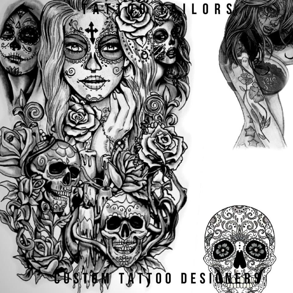 Sugar Skull Candy Tattoo Design Idea Created By Tattoo