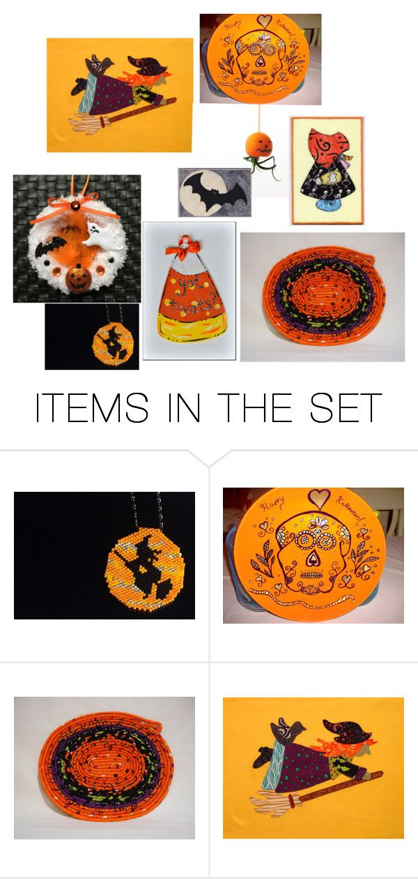 """""""Halloween specials"""" by zizzybob ❤ liked on Polyvore featuring art, orangeandblack and colorchallenge"""