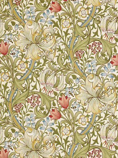 William Morris wallpaper  GoldenLilyl