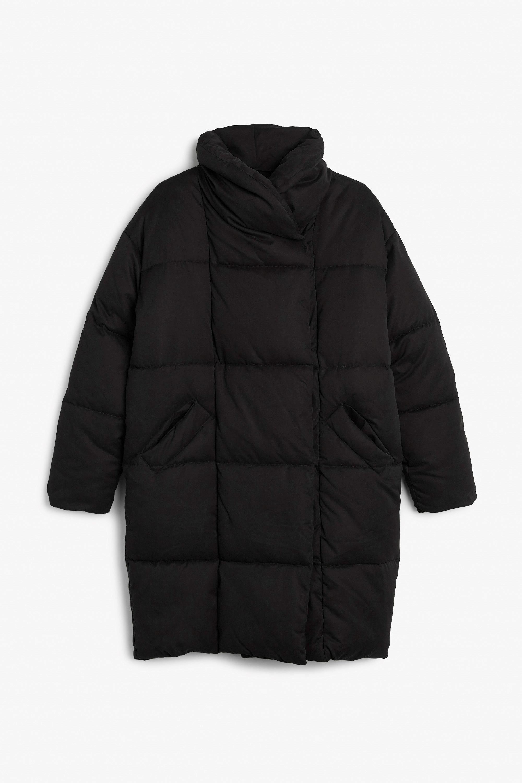 Monki Image 3 Of Puff Coat In Black Oversized Puffer Coat Puffer Coat Jackets [ 3000 x 2000 Pixel ]