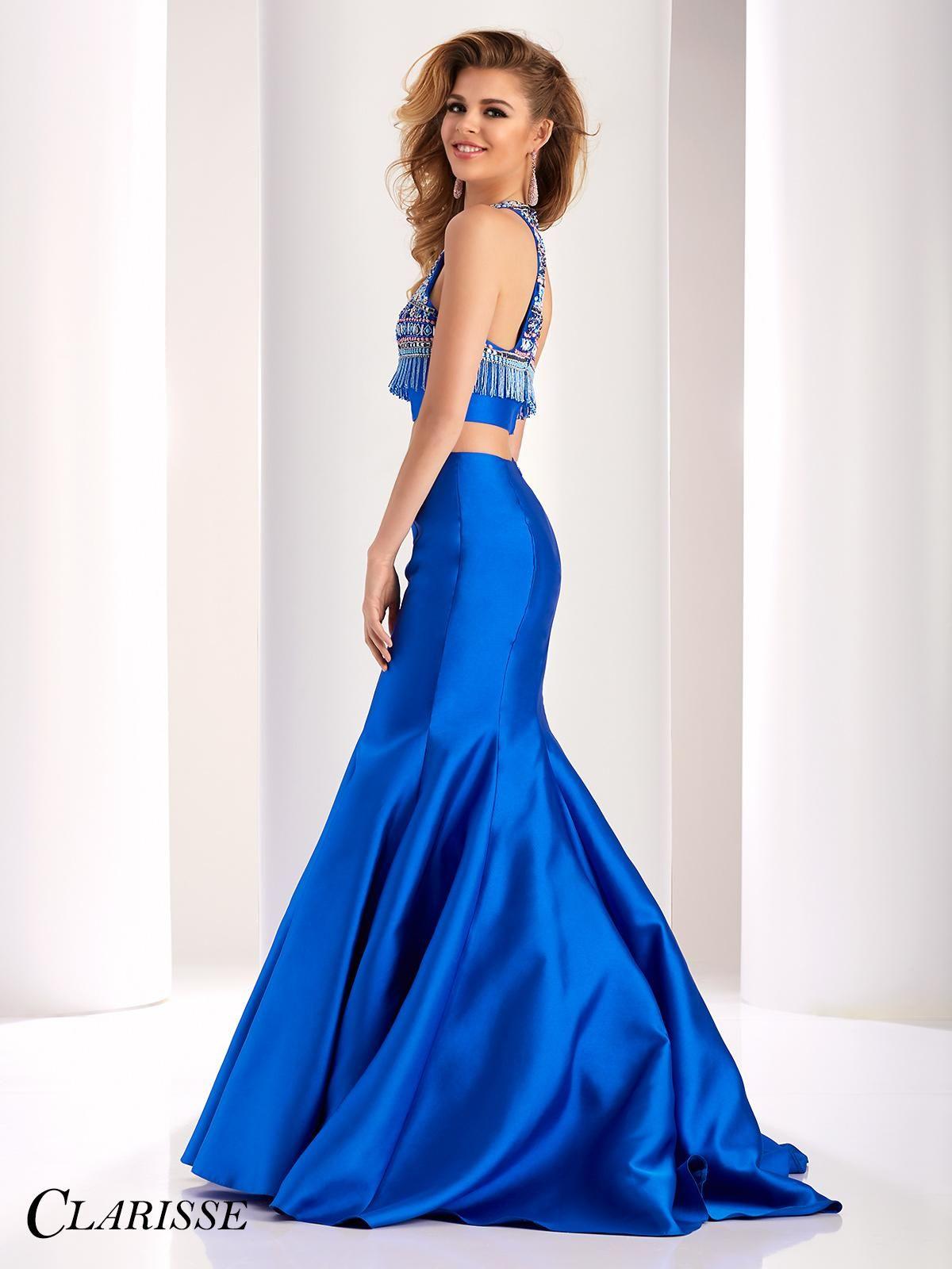 cf1b98fab2c CLARISSE Prom 2017 Two Piece Dress Style 4837. This sleeveless Mikado Clarisse  dress