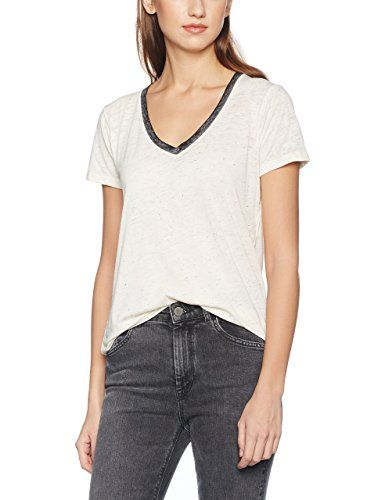 Scotch&Soda Women's Burn Out Tee with Deep V-Neck T-Shirts Buy Cheap With Credit Card O6kfwzsq