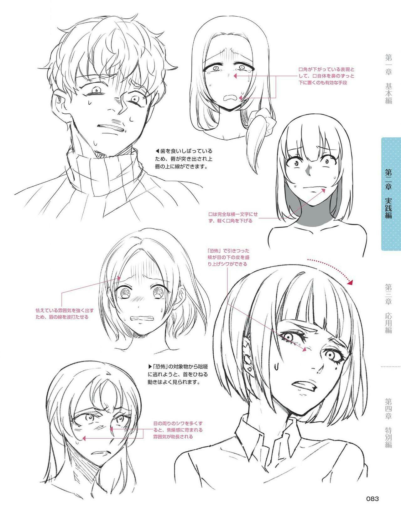 Pin by Vivian Pan on 教程 Facial expressions drawing