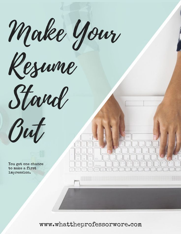 Free Workbook Make Your Resume Stand Out Resume advice