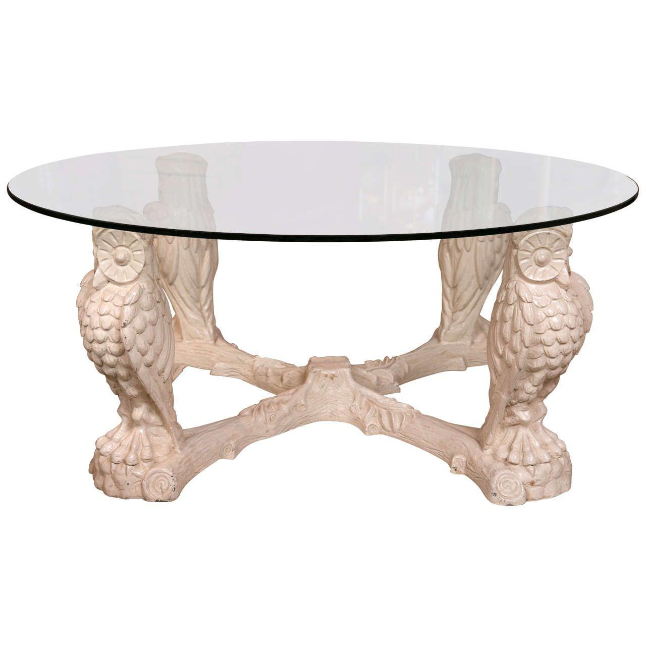 Mid Century Owl Base Coffee Table
