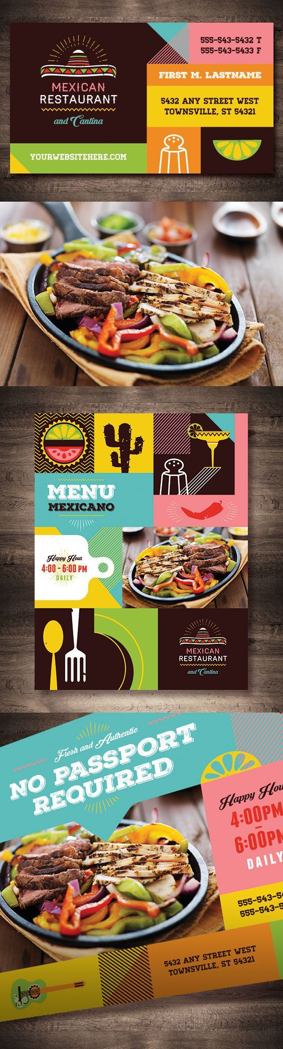 Mexican Restaurant Template Design By Stocklayouts Pinteres