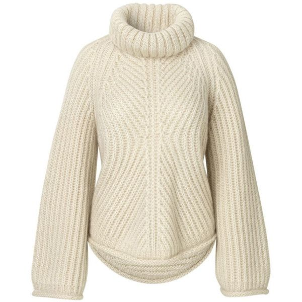 Albert Sweater Mohair Knit (911.975 COP) ❤ liked on Polyvore featuring tops, sweaters, long sleeve knit tops, over sized sweaters, knit top, brown knit sweater and loose tops