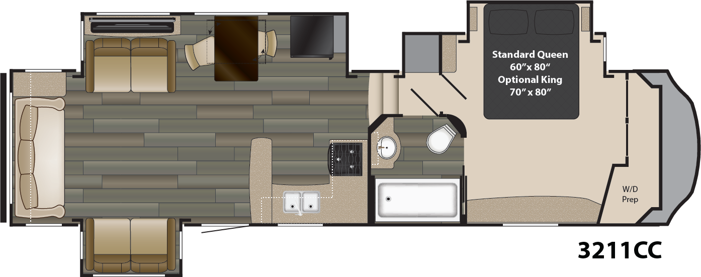 The New Gateway Is The Ultimate In High End Luxury Rving Gateway Is Designed To Appeal To The Senses Whil Travel Trailer Toy Hauler Travel Trailer Floor Plans