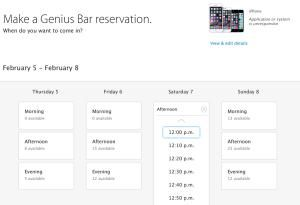 appointment for genius bar