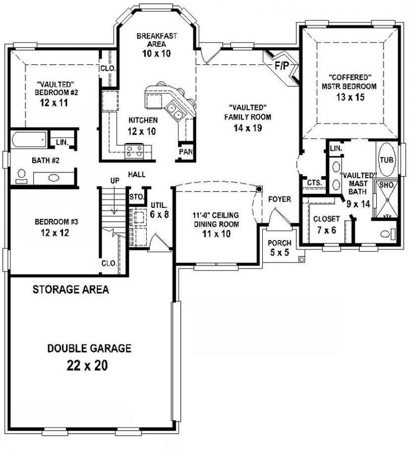 Make dining room an office or extend porch wider and make for House plans with 2 bedrooms in basement