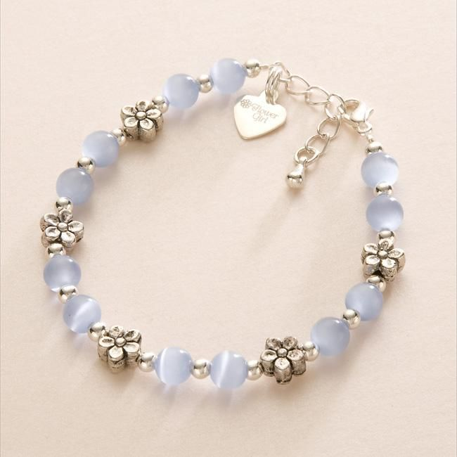 Flower girl Charm Bracelet Childrens Wedding Jewellery eBay For