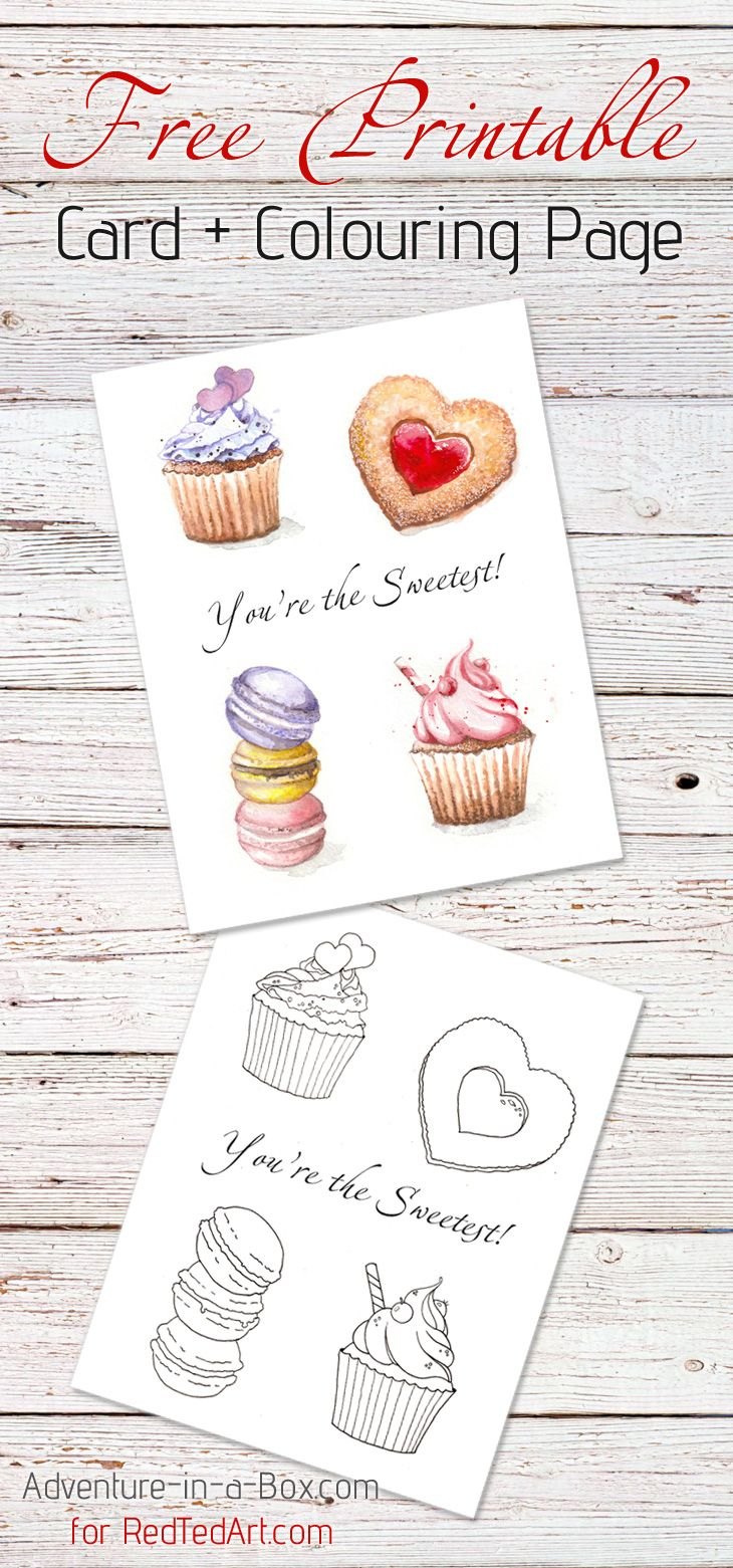 You Are The Sweetest  Valentines Card Coloring Page  Free