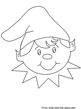 Boy Elf Coloring Page With Images Coloring Pages Drawings
