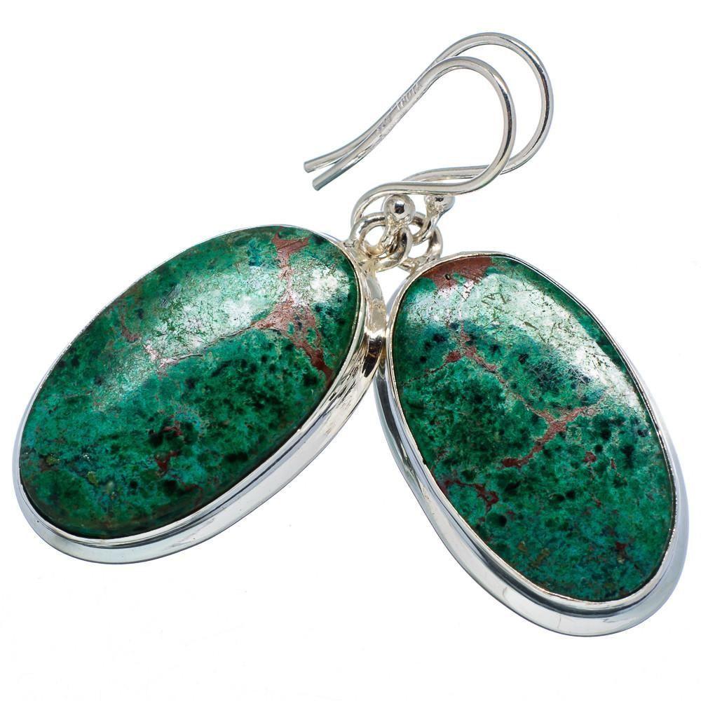 """Ana Silver Co Shattuckite 925 Sterling Silver Earrings 1 5/8"""" EARR340178"""