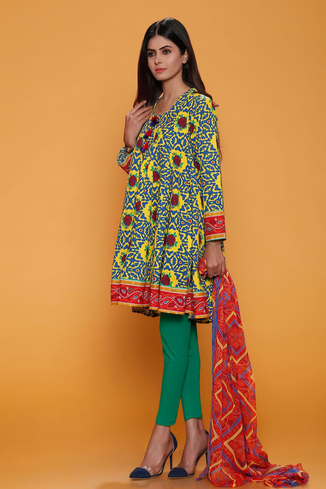 66d5e503b1b Yellow Casual wear Pakistani Dresses by Rang Ja winter Collection   wintercollection  blackfriday  readytowear  pretwear  unstitched  online   linen ...