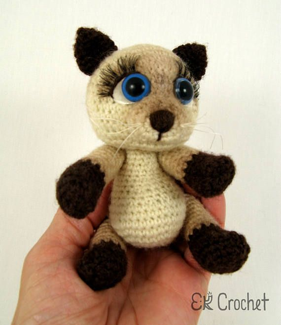 Siamese Kitten PDF Crochet Pattern by jaravee on Etsy, $5.00 ... | 658x570