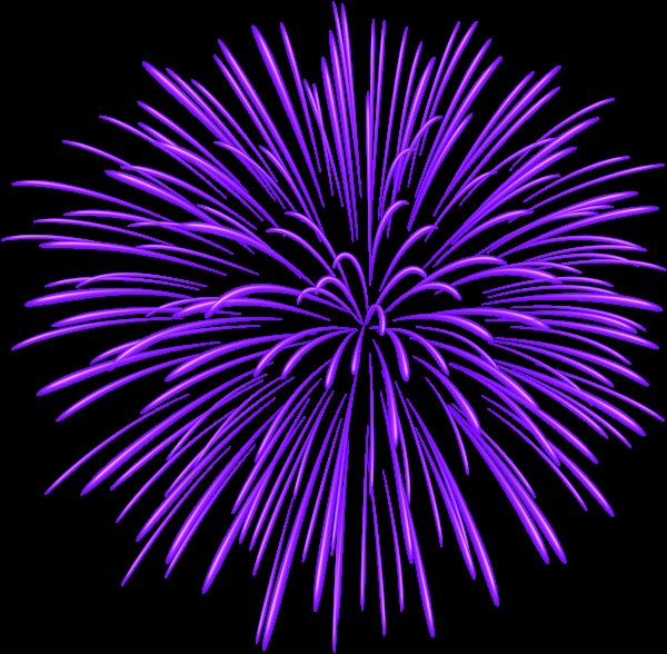 Purple Firework Transparent PNG Image Blue fireworks