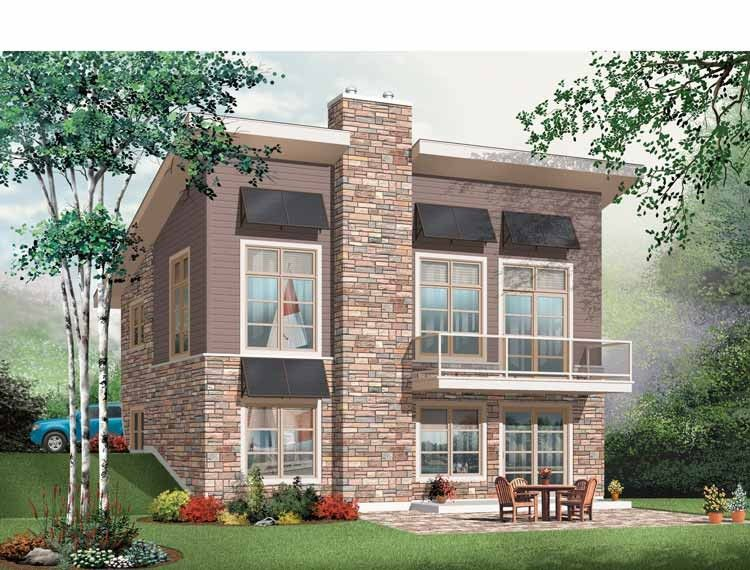 Contemporary-Modern House Plan with 1759 Square Feet and 3 Bedrooms
