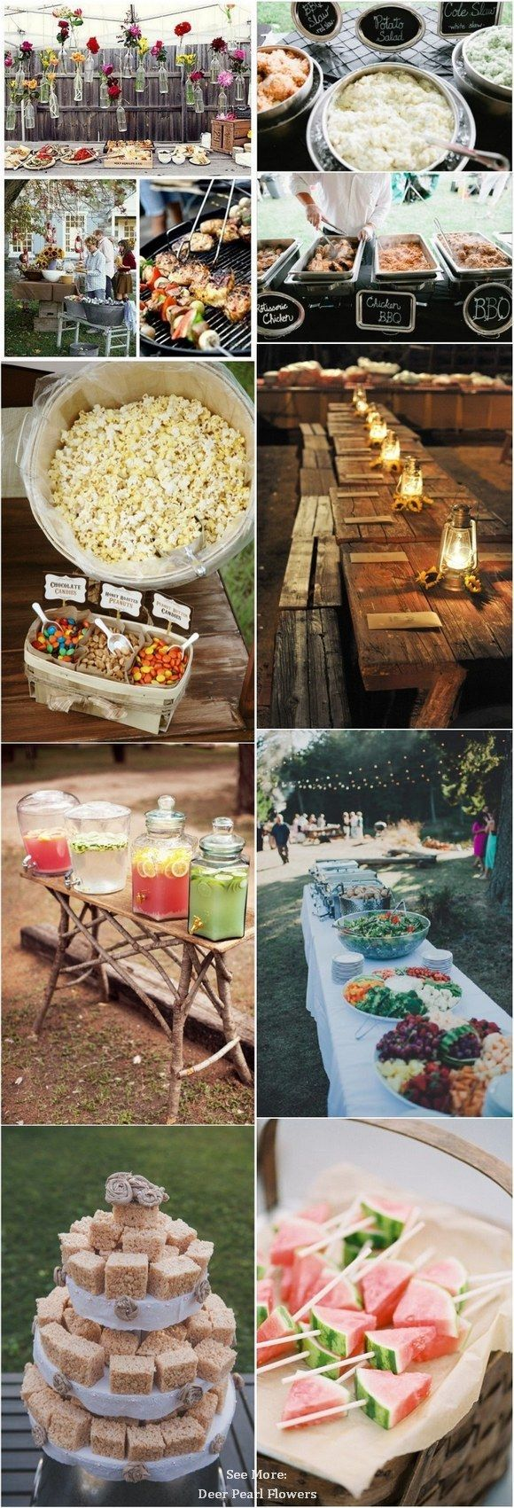 Top 25 Rustic Barbecue BBQ Wedding Ideas | Backyard bbq ...