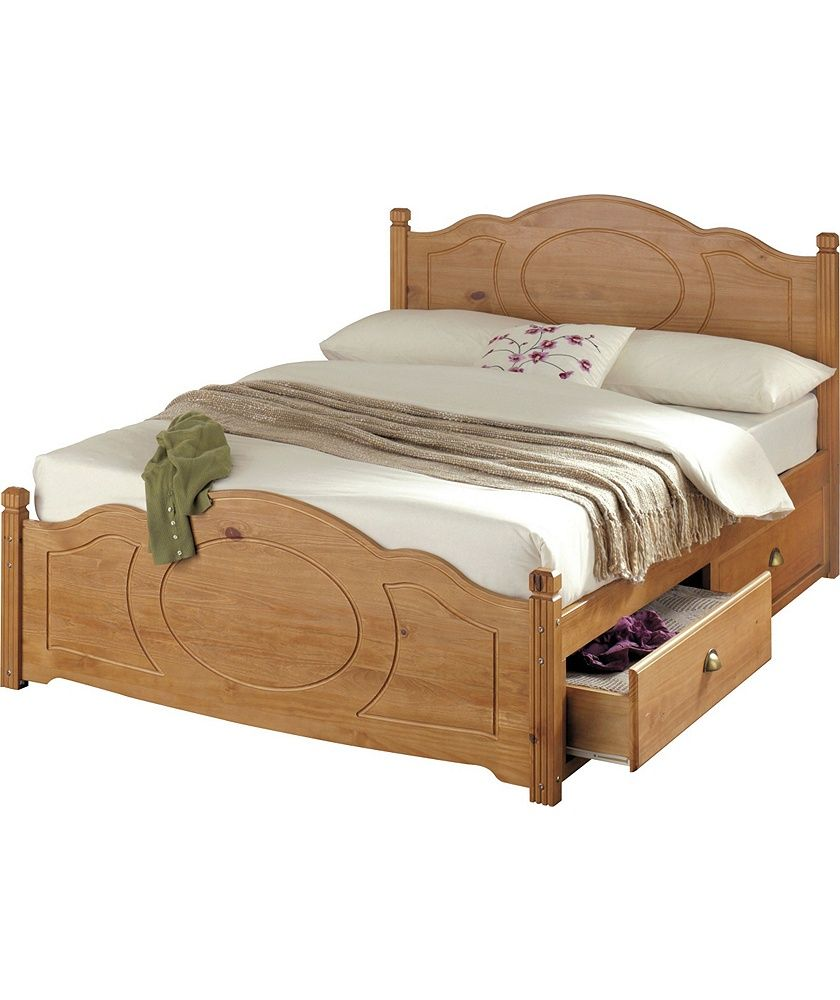 Best Buy Argos Home Sherington Double 4 Drawer Bed Frame Pine 400 x 300