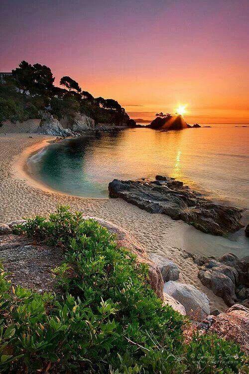 Sunset on a beautiful beach!