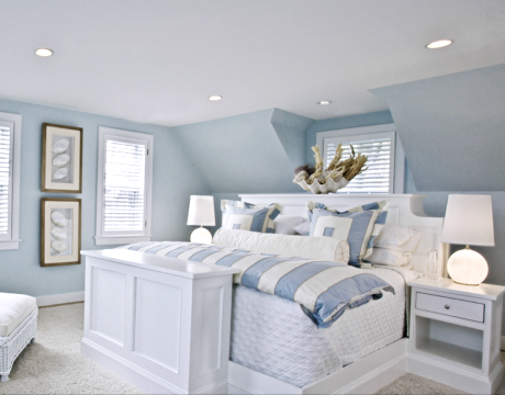 Blue And White Bedroom coastal decor | beach decor | nautical decor | seashell decor: 30