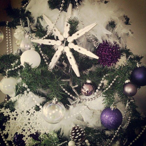 Il mio Natale 2014...alberello chic con piume e decorazioni home made. Luana
