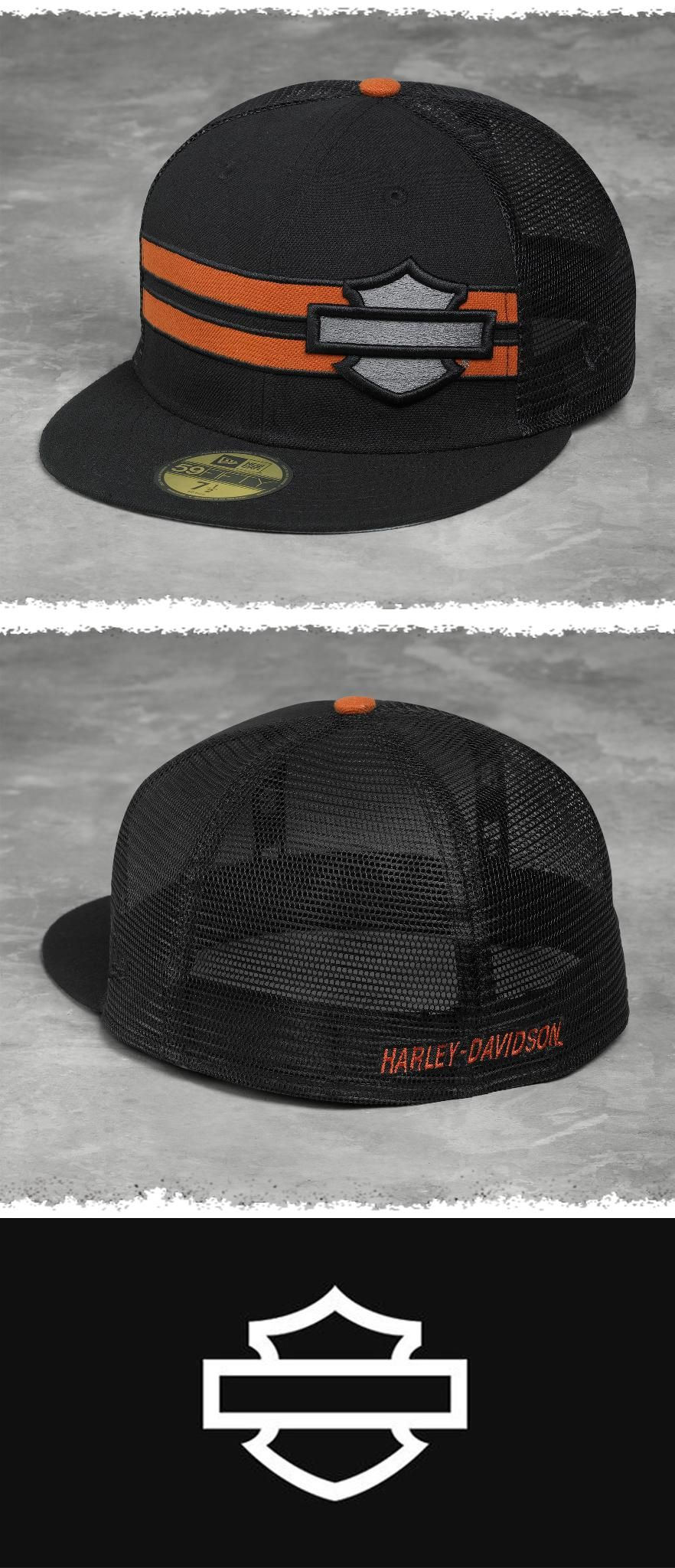 c1f448e1b Cotton crown…trucker mesh back…flat visor...awesome style. | Harley ...