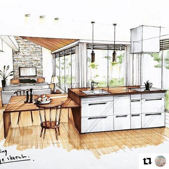 Pingl par elmomo sur design d 39 int rieur pinterest for Design d interieur dessin