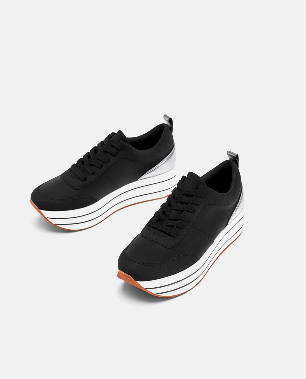 Zdjecie 1 Buty Sportowe Na Platformie Z Zara Platform Sneakers Trending Sneakers Nike Shoes Women
