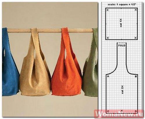9d8cb3823b54 4 выкройки модных сумок из ткани. Обсуждение на LiveInternet - Российский  Сервис Онлайн-Дневников